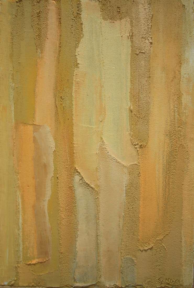 2014 Rivelazione 60×40 olio ecomalta,zeolite,pigmenti. Donato a Musei Civici Monza 2018