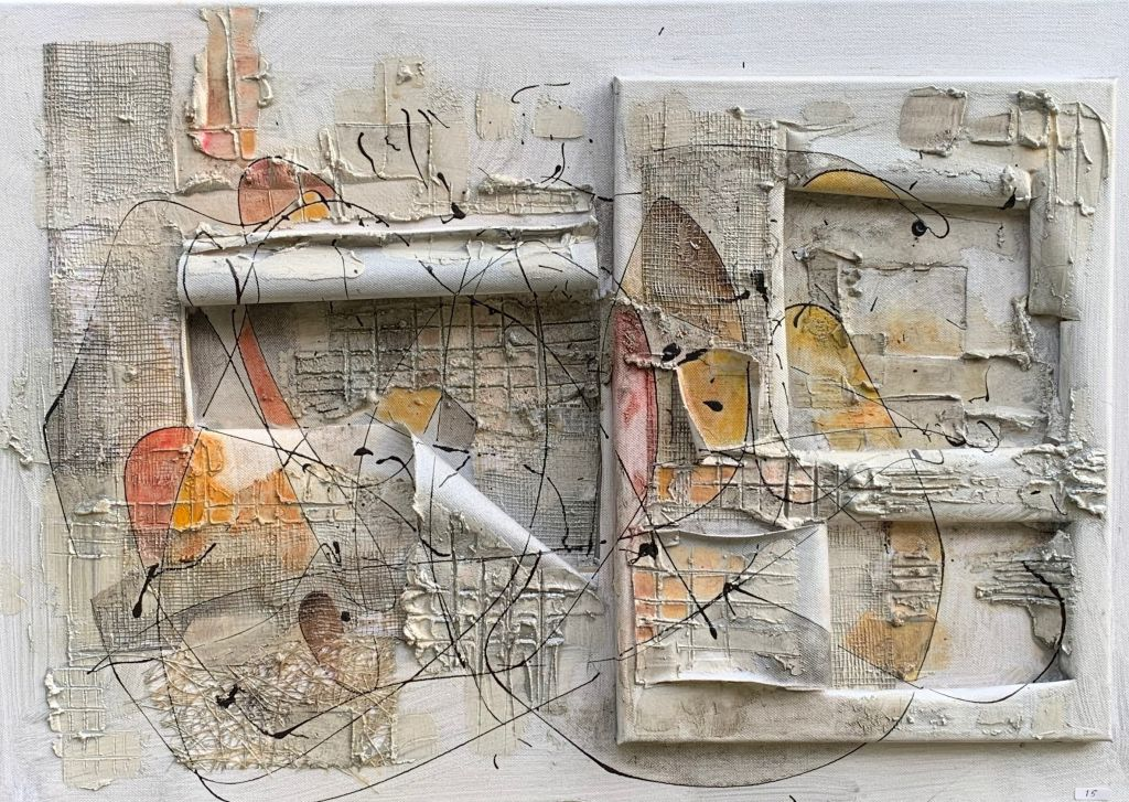 EQUILIBRIO – 70 x 50 – materico su tela – 2012